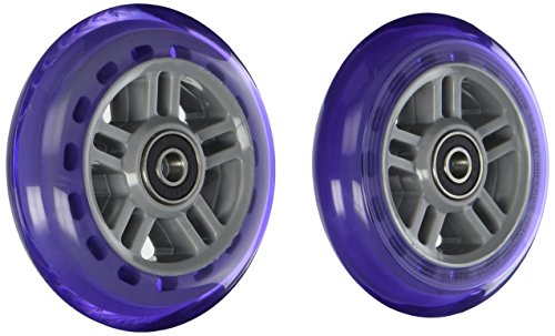 Razor PU A Scooter Series Wheels with Bearings - Set of 2 - Purple