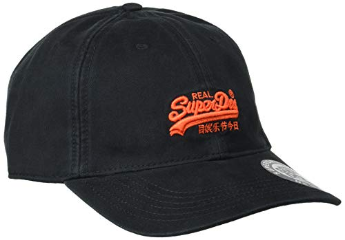Superdry Orange Label Cap Gorra de béisbol, Negro (Black 02a), Einheitsgröße para Hombre