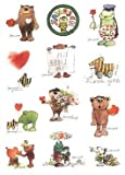 Janosch Sticker-Postkarte Liebe