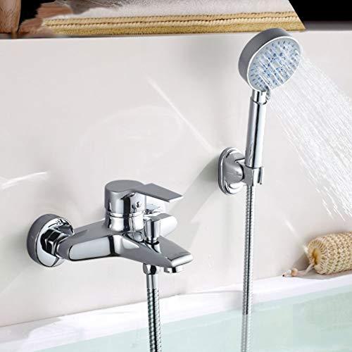 Auralum Badewannenarmatur mit 5 Funktionen Handbrause, klassisch Badewanne Duschset Duschsystem Armaturen für Badewanne und Bad