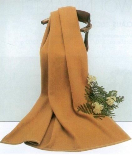 STEINBECK Decke Mekka aus 100% Kamelhaar Farbe Kamel in DREI Größen, 100x150 cm Gewicht 650 g