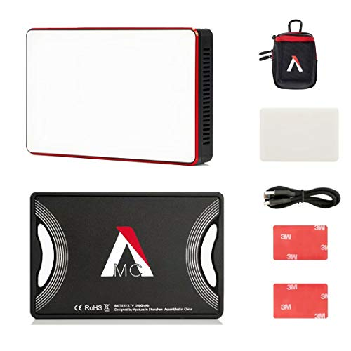 Aputure Amaran MC RGBWW Mini On Camera Video Light,3200K-6500K,CRI/TLCI 96+,HSI Mode,Support Magnetic Attraction and App with USB-C PD and Wireless Charging