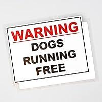 車のステッカー 13.5cm×10.4cmの車のステッカーの警告犬を走っている無料の穿孔デカールPVCを走っている犬 車のステッカー