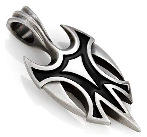 Bico Vikingo Pendiente (B93 Negro) - de Alta Ganancia de Alto Riesgo - Metal y Resina de Color Calle Tribal Joyeria