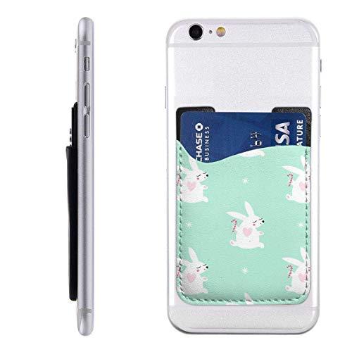 Inner-shop Mobiele kaart Portemonnee Portemonnee, Pocket ID Credit Card SleeveCute Baby Konijn Springen Snoep Riet en Sneeuwvlokken