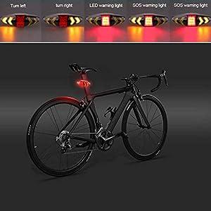 1 luz trasera de bicicleta LED con cable USB y mando a distancia inalámbrico, recargable e impermeable, intermitentes de seguridad para bicicleta de montaña, bicicleta de carretera.