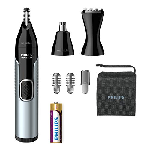 Philips Norelco Nose Trimmer 5000 For Nose, Ears and Eyebrows NT5600/42, Black/Silver