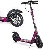 LSK Patinete Scooters Plegables para Adultos con Frenos de Disco, Scooters de cercanías con Ruedas Grandes, Regalos de cumpleaños para Adultos/Adolescentes/niños, hasta 150kg, no eléctrico