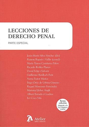 Lecciones de derecho penal. Parte especial. 6ª edición