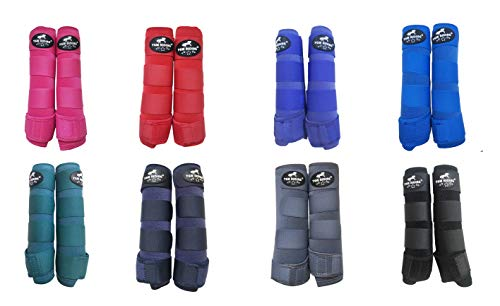 TGW RIDING Horse Sports Medicine Boots Horse Leg Wraps (Royal Blue, M)