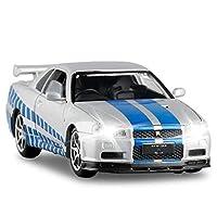 ダイキャストモデルカー に適用するスカイラインGTRR34は1:32男の子と女の子のためのスポーツカーメタルモデルビルディング屋外スポーツゲームの誕生日プレゼント (色 : 2)
