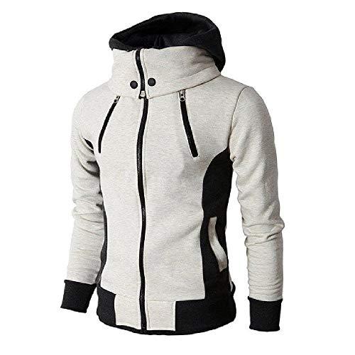 OKJI Herfst Winter Hooded Trainingspak Man Casual Fitness Patchwork Sweatshirt Outwear Lange mouw Hoody