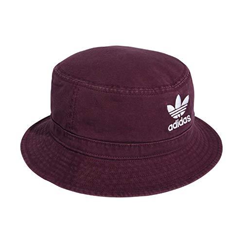 adidas Originals Unisex Washed Bucket Hat Berretto da Baseball, Unisex - Adulto Uomo, Cappelli da Baseball, CI7709, Bordeaux, Taglia Unica