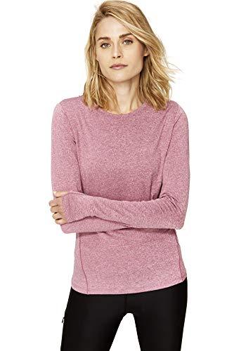 LOLË Cardio Camiseta de Manga Corta, Mujer, Rojo (Newberry Heather), XL
