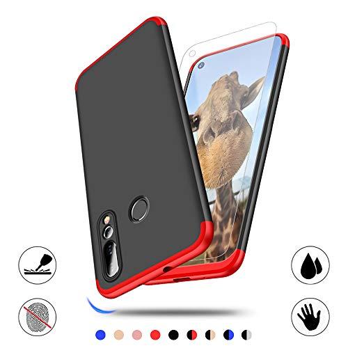 AChris Hülle Huawei Nova 4 Schutzhülle mit Schutzfolie Ultradünn Hart Case Phone Case Cover Slim Fit Anti-Scratch Shock Absorption FeinMatt Einfach Handyhülle für Huawei Nova 4