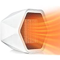 Portable Electric Space Heater with Thermostat, Overheat Protection