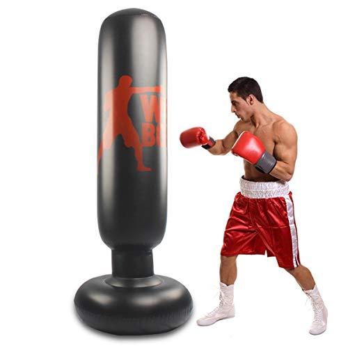 Saco de boxeo para niños y adultos, 160 cm, hinchable, para karate, fitness, MMA, etc.