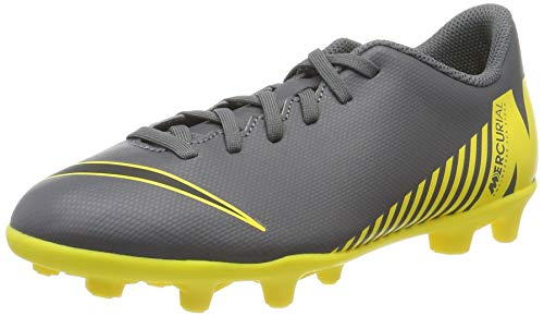 Nike Unisex-Kinder Vapor 12 Club Gs MG Fußballschuhe, Grau (Dark Grey/Black-Opti Yellow 070), 37 EU