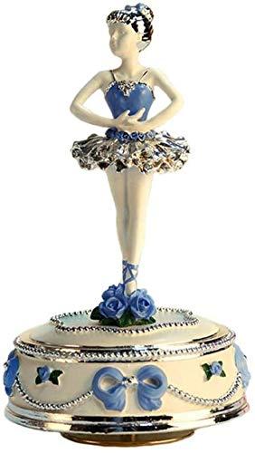 Regalo di Natale Scultura Ballerina Ragazza Che Gira Moda Pop Carillon Compleanno Valentinersquo; s Day Christmas childrenrsquo; s Moda Giocattolo Scultura Antica (Dimensioni: 10X10X19M)