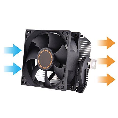 Tonysa La CPU del Ordenador Enfría el Disipador de Calor del Ventilador Silencioso para AMD Athlon 64 5200 Voltaje: 12V DC Conector: 3PIN,Vida Laboral: 30.000 Horas.