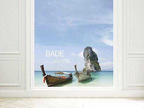 GRAZDesign Raamfolie Bade Oase - privacy film zee - plakfolie venster maritiem / 220013 110x57cm