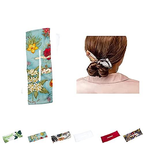 Deft Bun Headband Hairpin, Hair Bun Maker Hair Elastic Bands Ballet Buns Hair Bun Maker (F 1PCS)