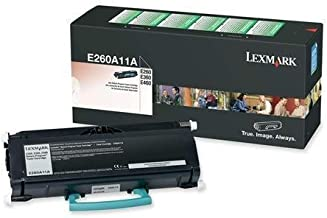 Lexmark E260A11A E260 E360 E460 E462 Toner Cartridge (Black) in Retail Packaging