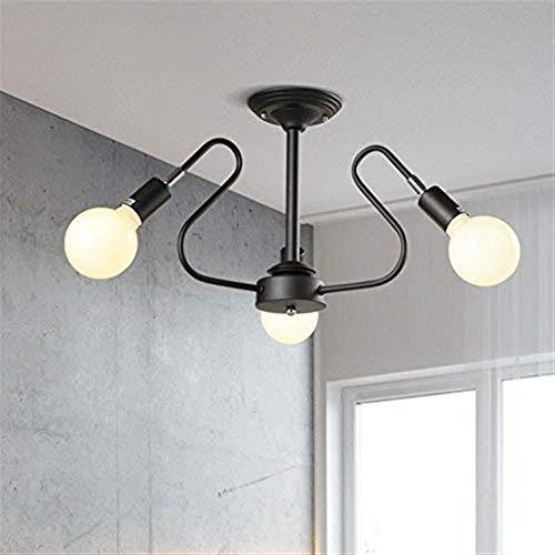 YZYZYZ - Lámpara de techo para restaurante de luz moderna, estilo coreano para dormitorio, iluminación personal, hierro forjado, tienda de ropa, lámpara de salón, 54 x 32 cm