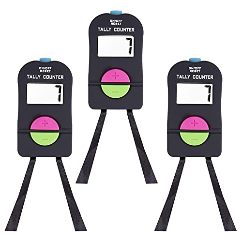 Digital Hand Counter Golf Sports Counter Electronic Manual Clicker Electronic Aggiungi Sottraction Manual Clicker Con Cordino Per Golf 3 Pcs