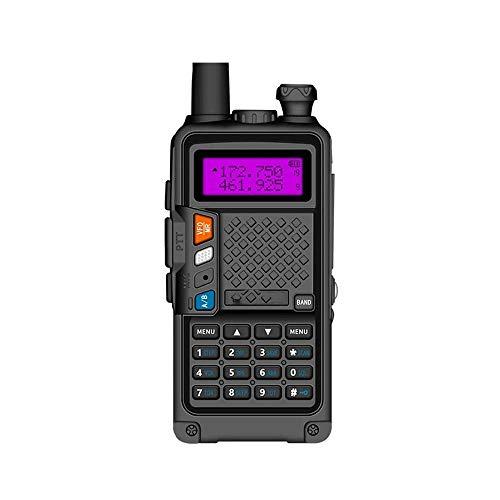 Z-Color UV 5R Profesional clásica Recargable walkie Talkie Radio de Dos vías Pantalla LCD 128 Canales con Originales de Auriculares, for el Ciclismo/Senderismo/Camping