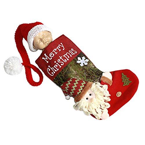 WFZ17 - Juego de 2 Sacos de Dormir para bebé recién Nacido, diseño de Papá Noel, Santa Clause*