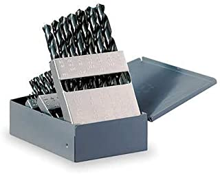 TopLine Drill Bit Set, 60pcs #1-#60 & Huot USA Index, 60pcs Black Oxide Finish