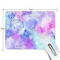 マウスパッド かわいい 水彩画 顔料 紫 グラデーショ 自由 抽象 高級 ノート パソコン マウス パッド 柔らかい ゲーミング よく 滑る 便利 静音 携帯 手首 楽