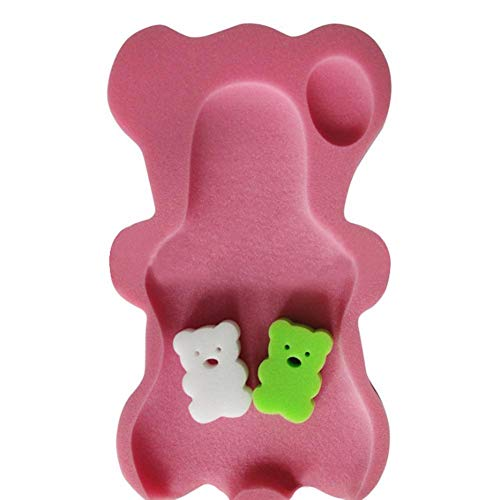 Bebé Bañera Infantil de Dibujos Animados Oso Estera de baño Recién Nacido Ligero Esponja Antideslizante Suave Flotante Tumbona Cojín Niños Puro Cómodo Bañera Espuma