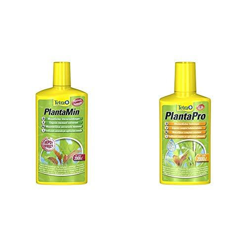 Tetra PlantaMin Universaldünger (wirkt bis zu 4 Wochen) & PlantaPro (wöchentlicher flüssiger Volldünger mit Spurenelementen und Vitaminen für prächtige und gesunde Aquarienpflanzen), 250 ml Flasche