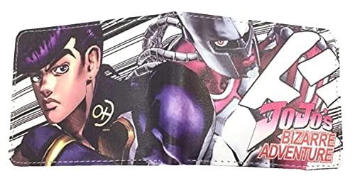 WANHONGYUE Jojo's Bizarre Adventure Anime Cartera Billetera de Cuero para Hombre Tarjetas de Crédito Wallet Monedero 1025/5