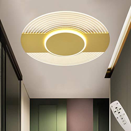 HIMNA PETTR LED Lámpara De Techo, Plafón Led De Techo Redonda con Control Remoto, LED Plafón para Baño Dormitorio Cocina Sala De Estar Comedor Balcón,40W