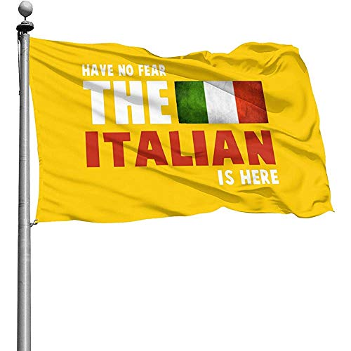 Qinzuisp Yard Vlag Heb je geen angst De Italiaanse ist hier vlaggen tuin buitenplaats terras balkon duurzaam 150 x 90 cm Yard Banner