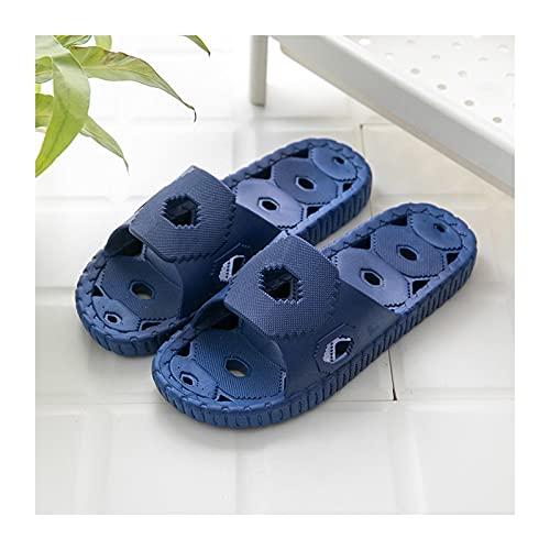 zapatillas de baño Slipper de ducha para hombre Secado rápido Slippers antideslizantes con  Agujero de drenaje y efecto de masaje Baño Solitario suave y sandalias de piscina cómodas sandalias de pisc