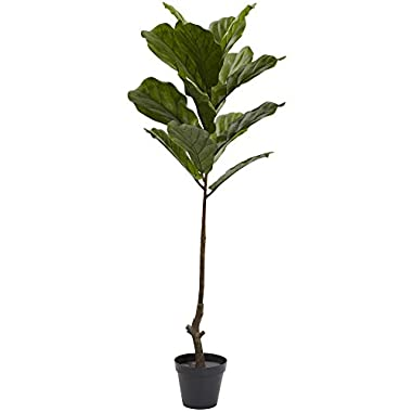 Nearly Natural Fiddle Leaf Indoor/Outdoor UV Resistant Tree, 4'