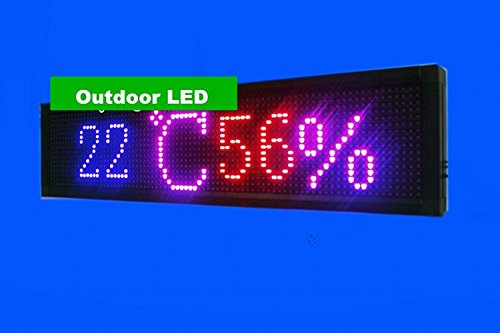 gowe exterior LED Cartel programables Temperatura y Humedad 16* 80pi