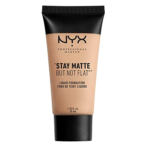 NYX PROFESSIONAL MAKEUP Stay Matte But Not Flat Liquid Foundation, Warm, 1.18 Ounce