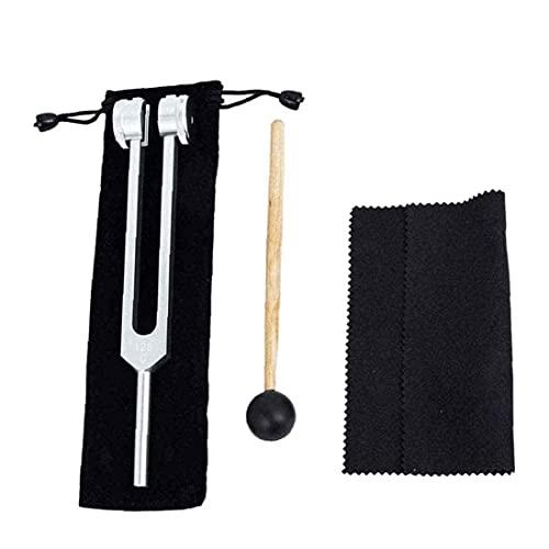 Instrumento Tuning Fork, Tuning Fork C128 Hz Sana Curación Terapia De Vibración Herramientas De Terapia De Vibración Estándar Sonido Piano Instrumento De Violín Plata