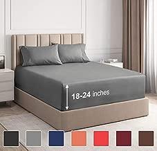Extra Deep Pocket Sheets - 4 Piece Sheet Set - Cal King Size Sheets Deep Pocket - Extra Deep Bed Sheets - Deep California King Fitted Sheet Set - Super and Ultra Deep Sheets - for Extra Deep Mattress