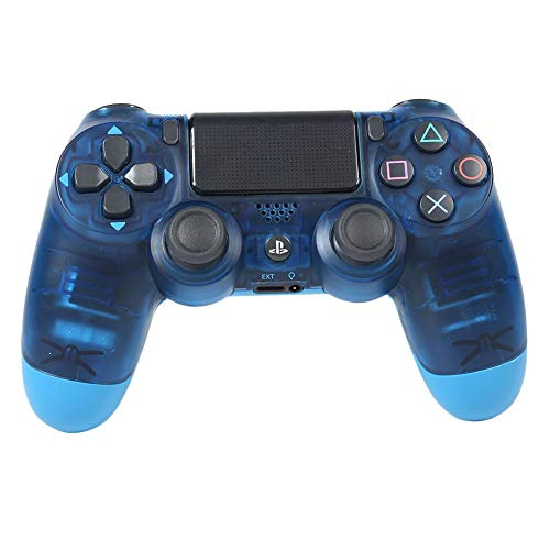 Akaddy kabelloser Bluetooth Gamepad Joystick Controller für Sony PS4 (Clear Blue)