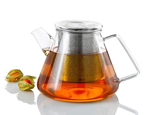 AdHoc TK50 Teekanne 1,5 l mit Filter für losen Tee ORIENT+, Glas/Edelstahl
