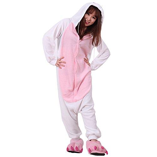 Yimidear Unisex Cálido Pijama Animales Traje Disfraz Cosplay Ropa de dormir Kigurumi Onesie Halloween y…