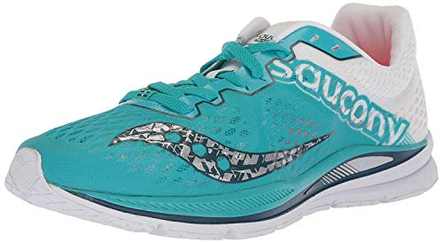 Saucony Women's Fastwitch 8 Cross Country Running Shoe, Teal/White, 10 Medium US