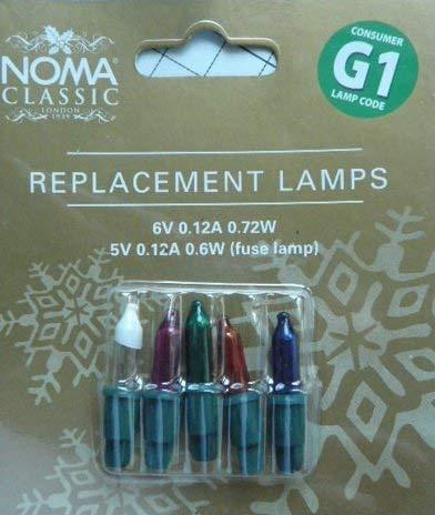 Spare Bulbs - Noma Lites G1 Spare Bulbs Multi Coloured 0344M