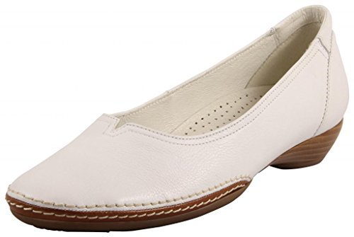 Gabor Shoes Gabor Casual, Ballerines Femme, Blanc (Weiss/Goucho), 38 EU